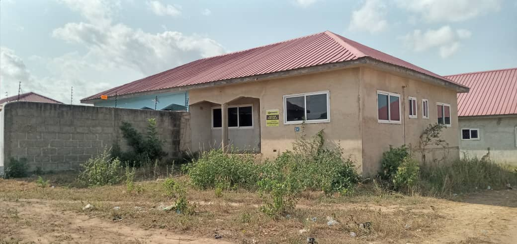TITLED AND ROOFED 2 MASTER BEDROOM HOUSE AT KASOA
