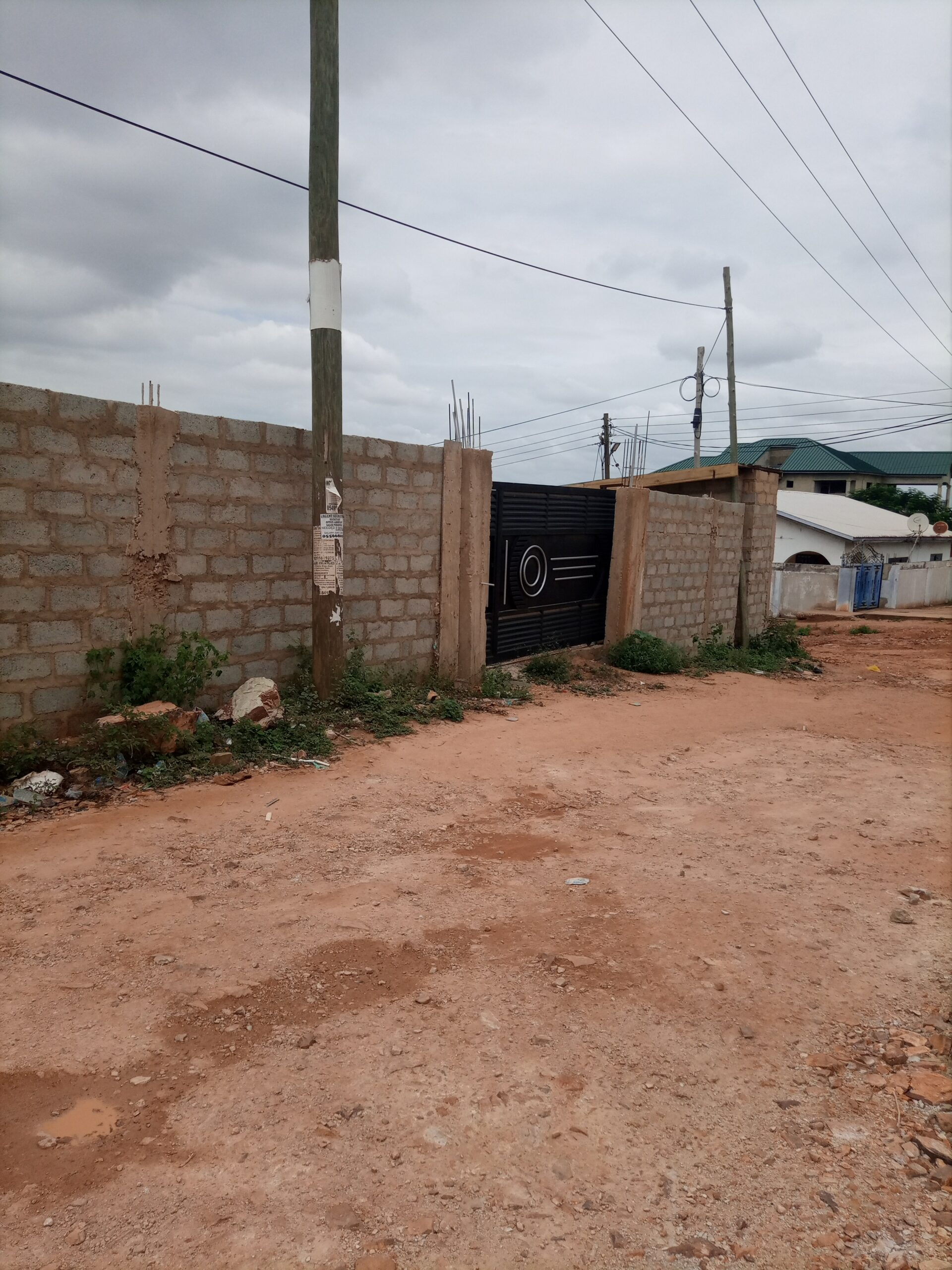 WALLED AND GATED PLOT PLUS SINGLE ROOM AT BROADCASTING ACCRA